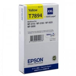 Cartouche EPSON T7894 XXL Yellow pour WF-5110/5190/5620/5690, 4000 pages