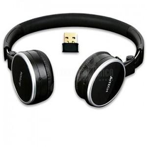 Casque Microphone sans fil A4TECH rechargeable Noir