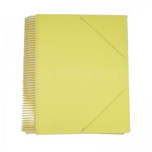 Porte vues Protège Documents Spiral Pastel CRISTAL 80 pochettes, 160 vues