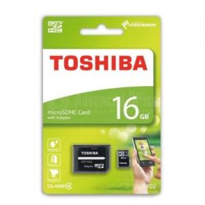 Carte mémoire TOSHIBA 16Go MicroSDHC Classe 10 + Adaptateur