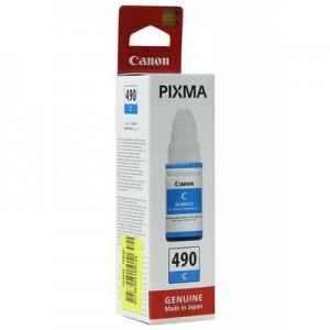 Bouteille d'encre CANON GI-490 Cyan pour G1400/G2400/G3400