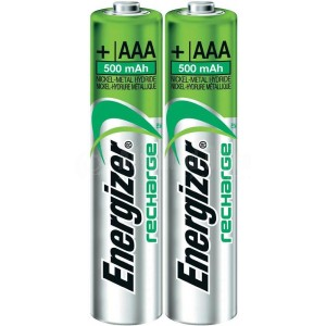 Jeu de 2 piles rechargeables ENERGIZER LR3 800mAh/1000mAh AAA