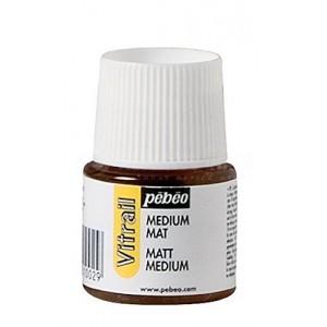 Flacon de peinture PEBEO vitrail Auxiliaire Medium Mat 45 ml