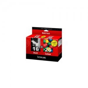 Pack 2 cartouches LEXMARK N°16 (Noir) N°26 (trois Couleurs) pour X75/X2250/X1190/X1270/i3/Z33/Z605/Z615/Z640