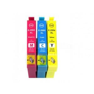 Pack de 3 Cartouche couleur CYM RC compatible EPSON T2992/T2893/T2994 pour XP-245, XP-235, XP-332, XP-335, XP-432, XP-43