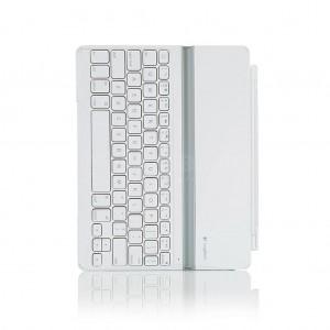 Clavier Bluetooth  pour tablette LOGITECH coque ultrathin Blanc