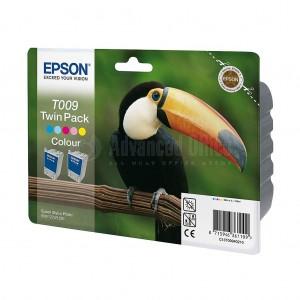 Pack de 2 Cartouche couleur EPSON T009 pour imprimantes 900/1270/1290/1290S