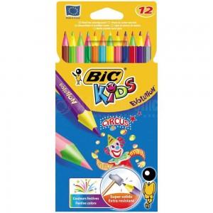 Boite de 12 crayons de couleur BIC Kids Evolution
