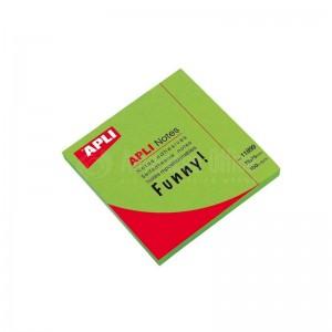 Post It APLI 75 x 75mm Vert Brillant