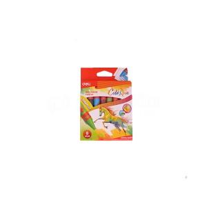 Boite de 8 Crayons à cire DELI Wax crayon C209 90 ColoRun jumbo Rond