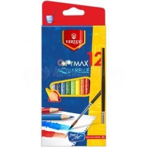 Boite de 12 Crayons couleur VERTEX VS-0452, GM