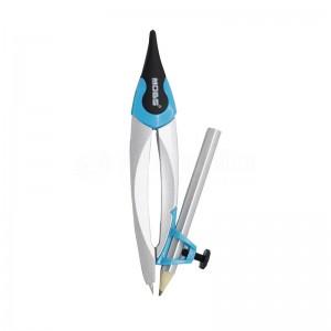 Kit Compas Etudiant MOBS CO-0603 en Boite PP, Double usage + recharge mine + crayon