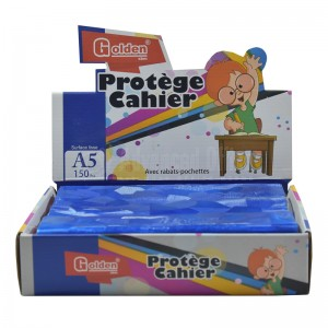 Protège Cahier A5 GOLDEN 41123, Surface lisse, Bleu