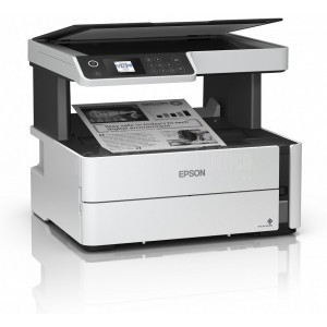 Imprimante Multifonction EPSON EcoTank ET-M2140 3en1, Monochrome, A4, 39ppm, Recto-verso, USB, Blanc
