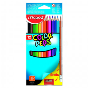 Boite métallique de 12 Crayons Aquarel LET'S Color Up + Pinceau