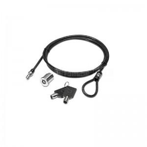 Câble de sécurité à clé HP pour laptop et station d'accueil, 1.85m