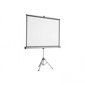 Ecran de projection trépied NOBO 175 x 132.5 Cm Blanc mat