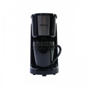 Cafetière électrique RIDEX Design ST-641, 1 Tasses, Filtre lavable permanent, 380W, Noir-Argent