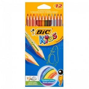 Boite de 12 crayons de couleur BIC Kids Tropicolors 2