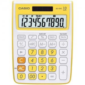 Calculatrice CASIO MS-10VC 10 Chiffres Jaune