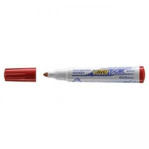 Marqueur BIC Velleda 1751 03 ECOlution coupé 5.5-3.7mm pour tableaux blancs Rouge