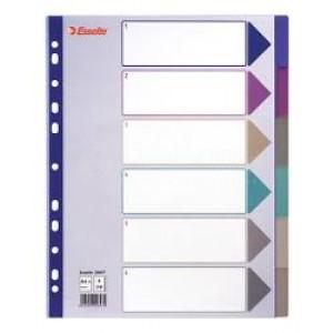 Intercalaire ESSELTE 6 couleurs en plastique