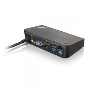 Dock Station LENOVO ThinkPad OneLink, 90W, USB 2.0, USB 3.0, VGA, DisPlayPort, HDMI, Audio Out, RJ-45 pour Carbon X1 (4th Gen only), X1 Tablet, X1 Yoga, Yoga 14/ 260/ 460, p40, x1 carbon