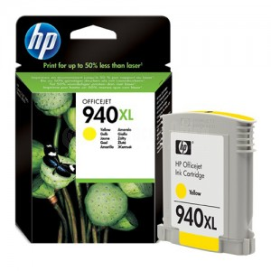 Cartouche HP 940XL Yellow pour Officejet Pro 8000/ 8500 series/ 8500A series 1400 pages