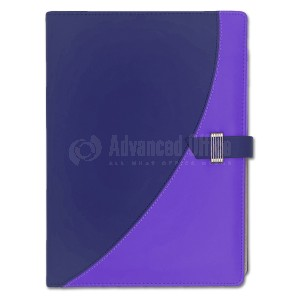 Organiseur RIDEX DESIGN A4 Avec Calculatrice Bleu-Bleu foncé avec fermeture à ceinture  -  Advanced Office Algérie