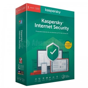 Antivirus KASPERSKY Internet Security 2020 Licence 1 poste 1 an