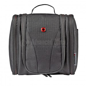image. Trousse de Toilette SWISSGEAR-WENGER Multi-pochettes, Water-Resistant, crochet de suspension, 6L, Noir - Advanced Office