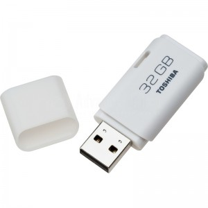 image. Flash disque TOSHIBA TransMemory U202 32Go USB 2.0, Blanc  -  Advanced Office