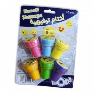 Paquet de 6 Tampons Kids MOBS Emoji Stamps Multi-couleurs