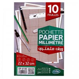 Pochette de papier millimétrique EXCELLES 22 x 32cm 10 Feuilles  -  Advanced Office Algérie