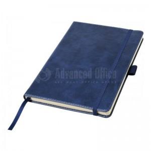 Notebook A5 couverture rigide en simili cuir 192 pages Bleu  -  Advanced Office Algérie