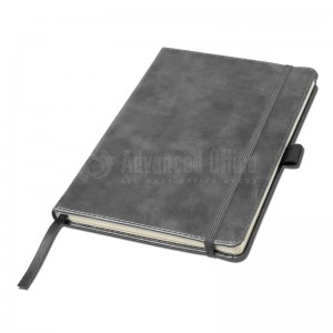 Notebook A5 bleu turquoise couverture rigide en simili cuir de 192 pages  -  Advanced Office Algérie