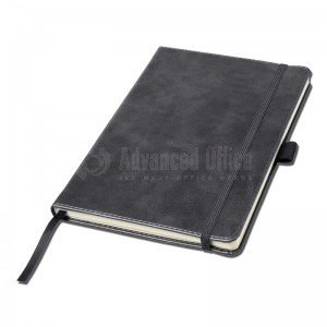 Notebook A5 Gris couverture rigide en simili cuir de 192 pages  -  Advanced Office Algérie