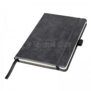 Notebook A5 Gris couverture rigide en simili cuir de 192 pages  -  Advanced Office Algérie