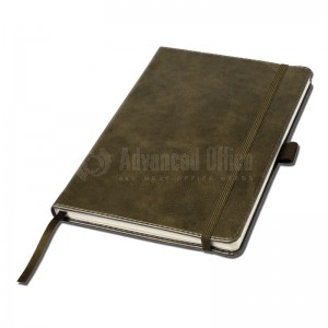 Notebook A5 Marron couverture rigide en simili cuir de 192 pages  -  Advanced Office