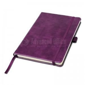 Notebook A5 Mauve couverture rigide en simili cuir  de 192 pages  -  Advanced Office