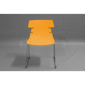 Chaise visiteur MODUS Luge sans accoudoir Série CT, Orange