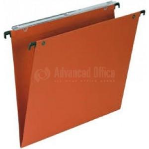 Chemise dossier suspendus tiroir A4 kraft Orange