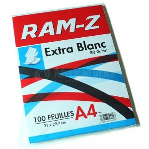 Rame de papier extra blanc RAM-Z 100 Feuilles A4 80g