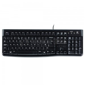 Clavier LOGITECH Media k120 for Business azerty, USB, Noir