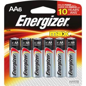 Jeu de 6 piles alcalines ENERGIZER Max +Power Seal LR6 AA