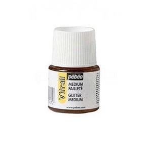 Flacon de peinture PEBEO vitrail Auxiliaire Medium Paillette 45 ml