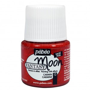 Flacon de peinture PEBEO Fantasy Moon de 45ml Carmin