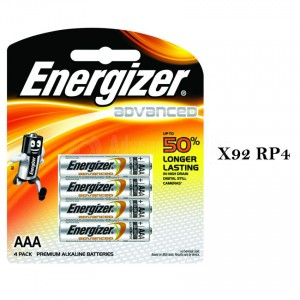 Jeu de 4 piles ENERGIZER Advanced R3 AAA