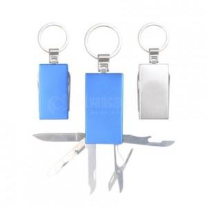 Porte clé Canif Multifonction Rouge
