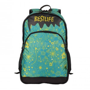 "Sac à dos porte PC BESTLIFE Fashion BSB-3294GE 15.6"" Vert Motif fleurs  -  Advanced Office"